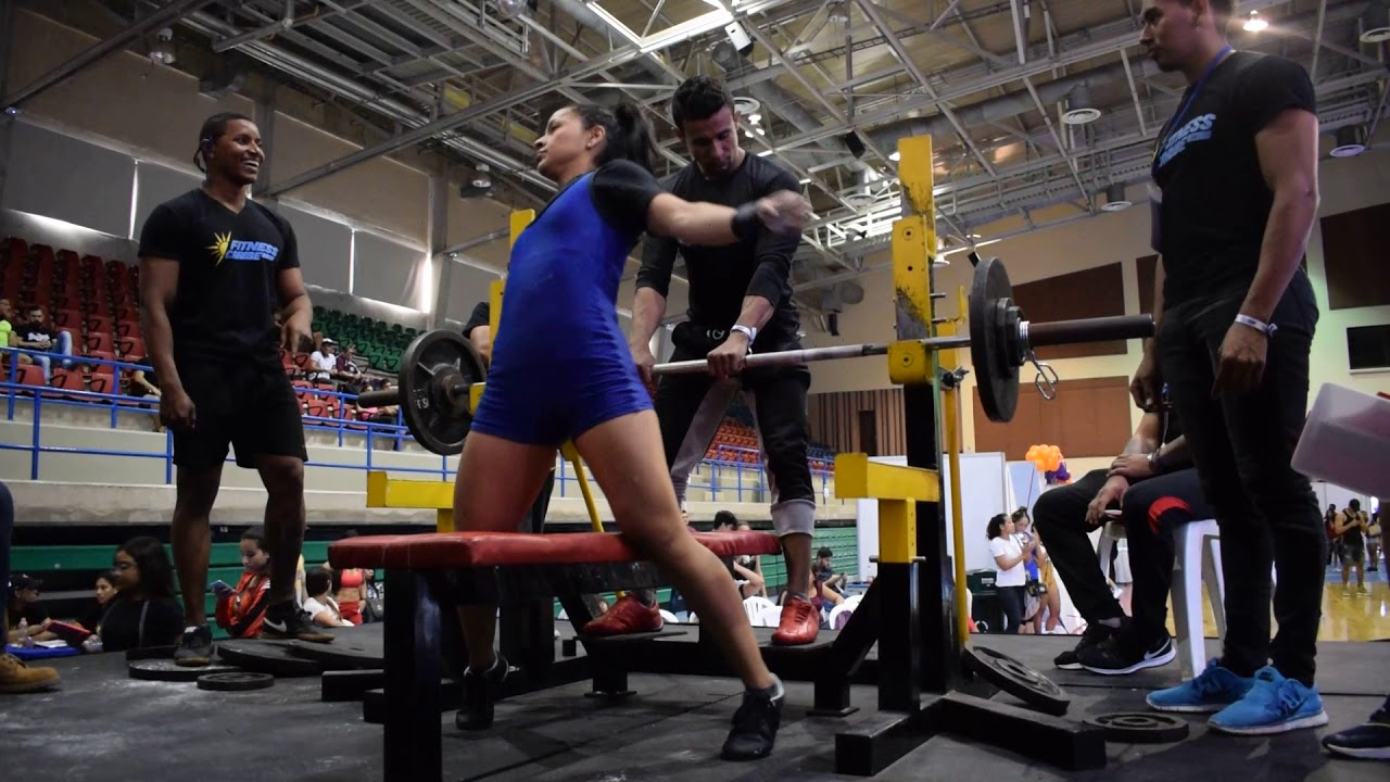 POWERLIFTING WOMEN BENCHPRESS 2ND MOVEMENT