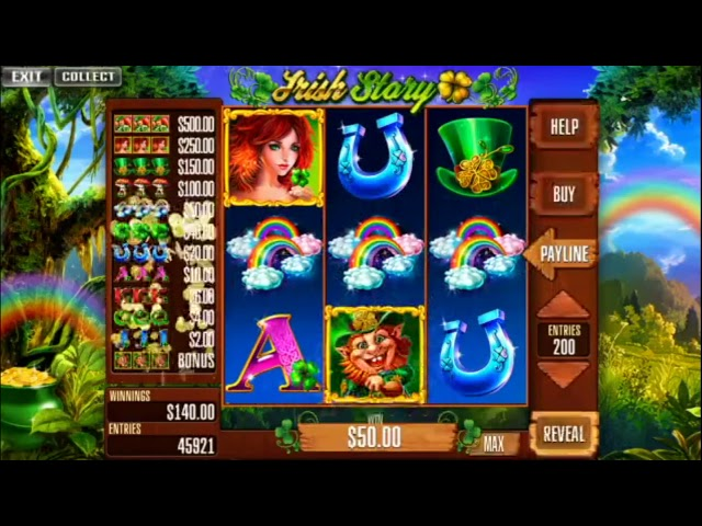 Custom slot machine software. Irish Story for street operations from Inbet Games