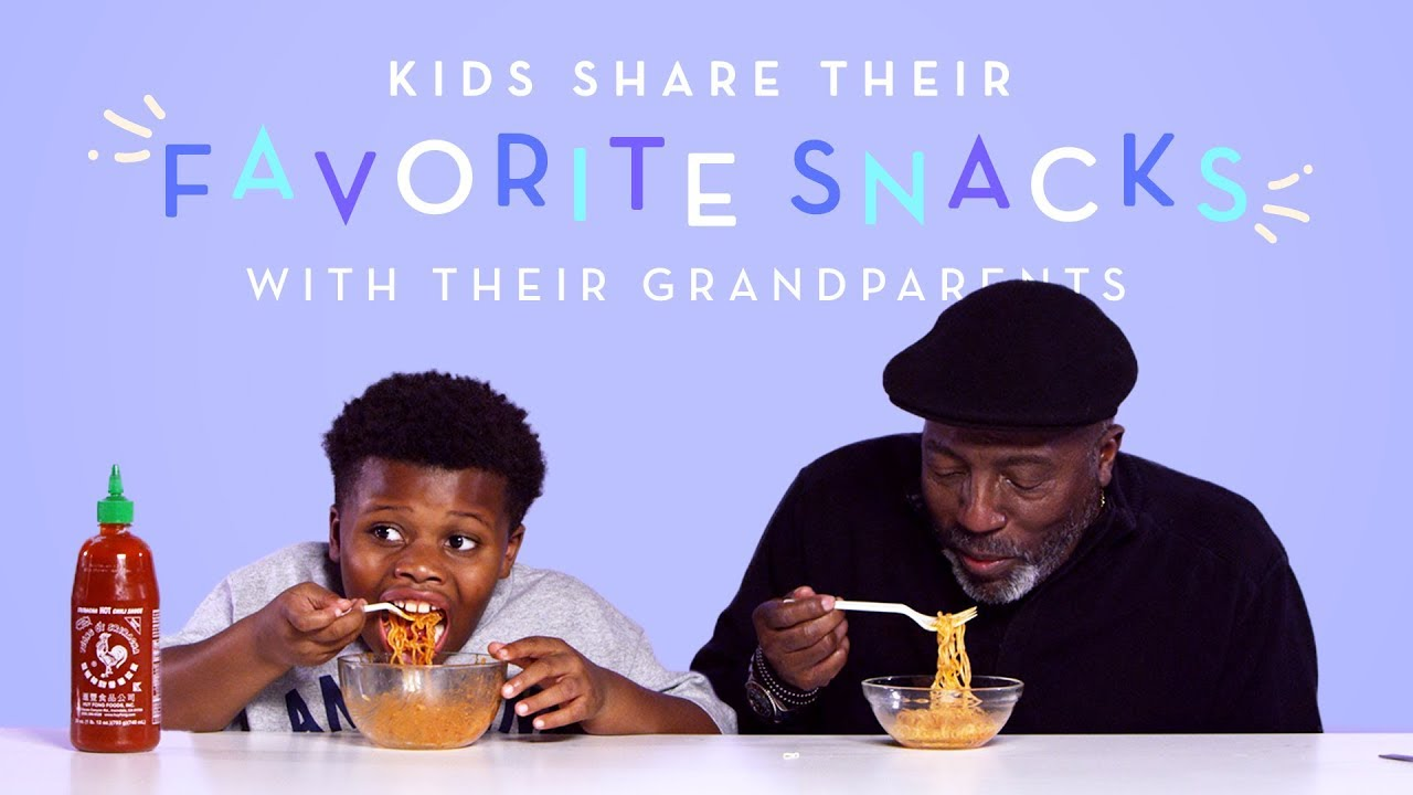 Download Kids Share Their Favorite Snacks with Their Grandparents | Kids Try | HiHo Kids