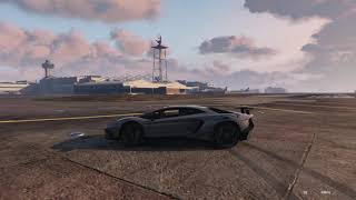 Grand theft Auto V™ Super car racing airport.