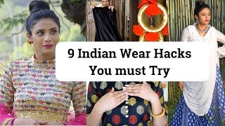 9 Life Saving Wedding Hacks | Indian Wear Fashion Hacks You Must Try #fashionhacks Aanchal