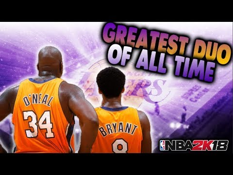 2001 Lakers! Shaq and Kobe Do Work! NBA 2K18 Play Now Online Gameplay