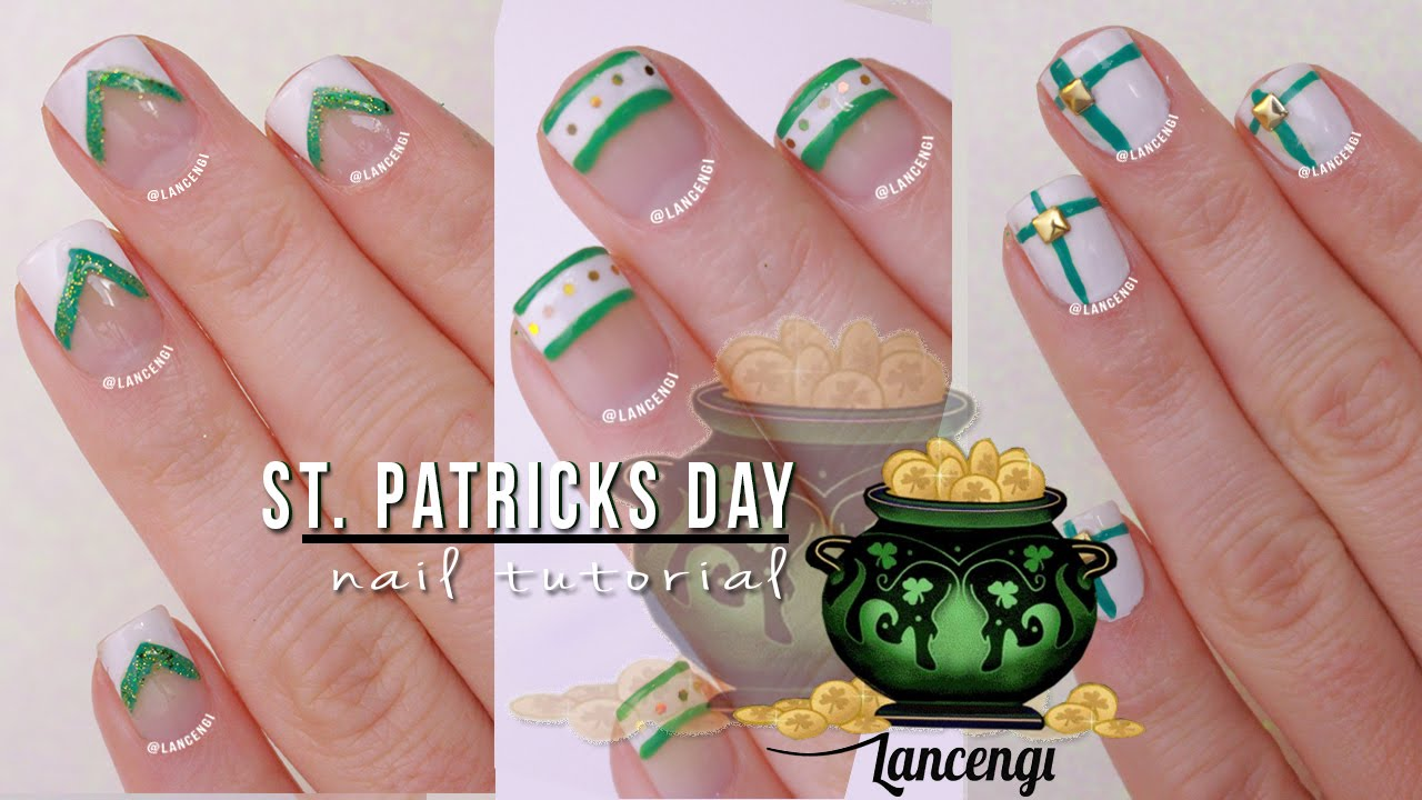 DIY Cute & Easy Nail Art For Beginners #28 - St Patricks Day French ...