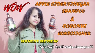 WOW Apple Cider Vinegar Shampoo and Hair Conditioner Review ll RUCHI JOSHI ll