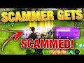 SCAMMERS FINGER SLIPPED AFTER I SCAMMED HIS SWORD!!! scammer gets scammed FORTNITE SAVE THE WORLD mp