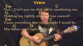 Numb (Linkin Park) Strum Guitar Cover Lesson with Chords/Lyrics - Capo 2nd Mp3