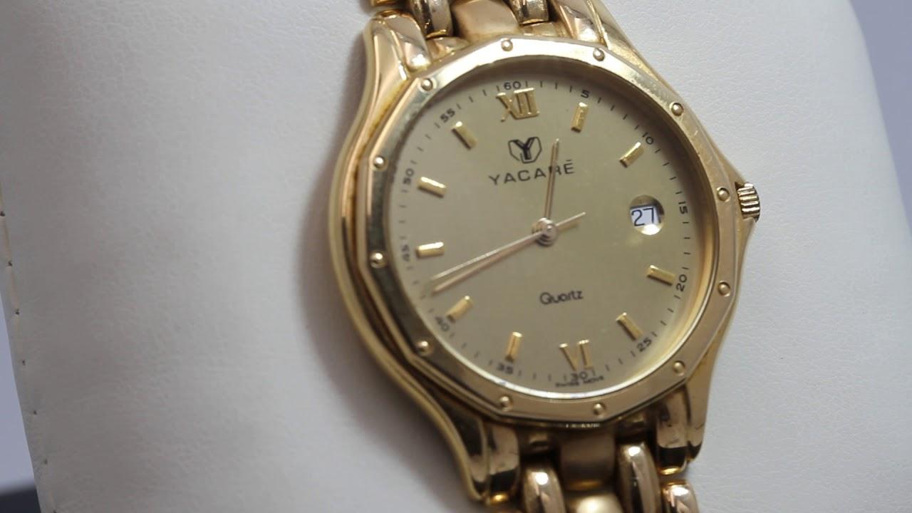 Oro De Mano Yacaré Segunda Reloj Quartz E330246a 8OPnw0k