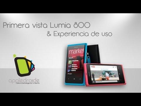 Nokia Lumia 800 Primera vista y experiencia de uso