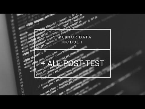 PRAKTIKUM STRUKTUR DATA MODUL 1 - (POST TEST 1, 2, 3)