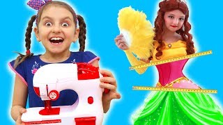 Toy Sewing Machine & Kids Dress Store with Super Elsa