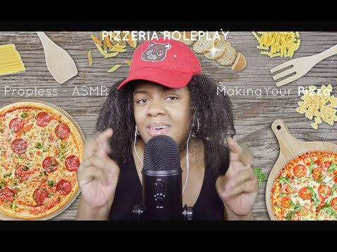 ASMR Pizzeria Roleplay *Prop-less* (Hand Movements, Mouth Sounds)