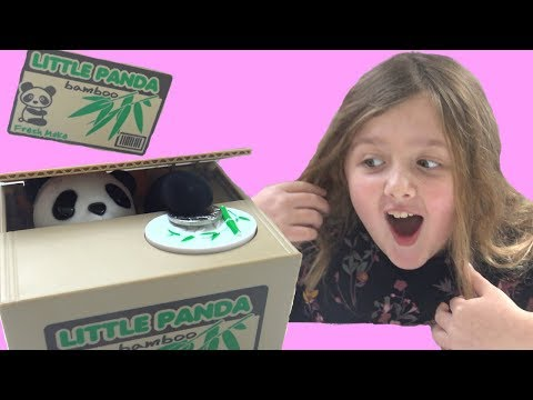 Cute Little Panda Took My Allowance | Fun Toy Panda Money Box Review