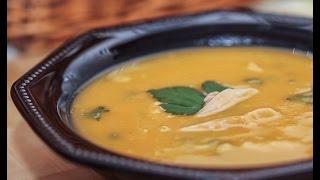 Вкусный рецепт. Суп из тыквы с курицей.