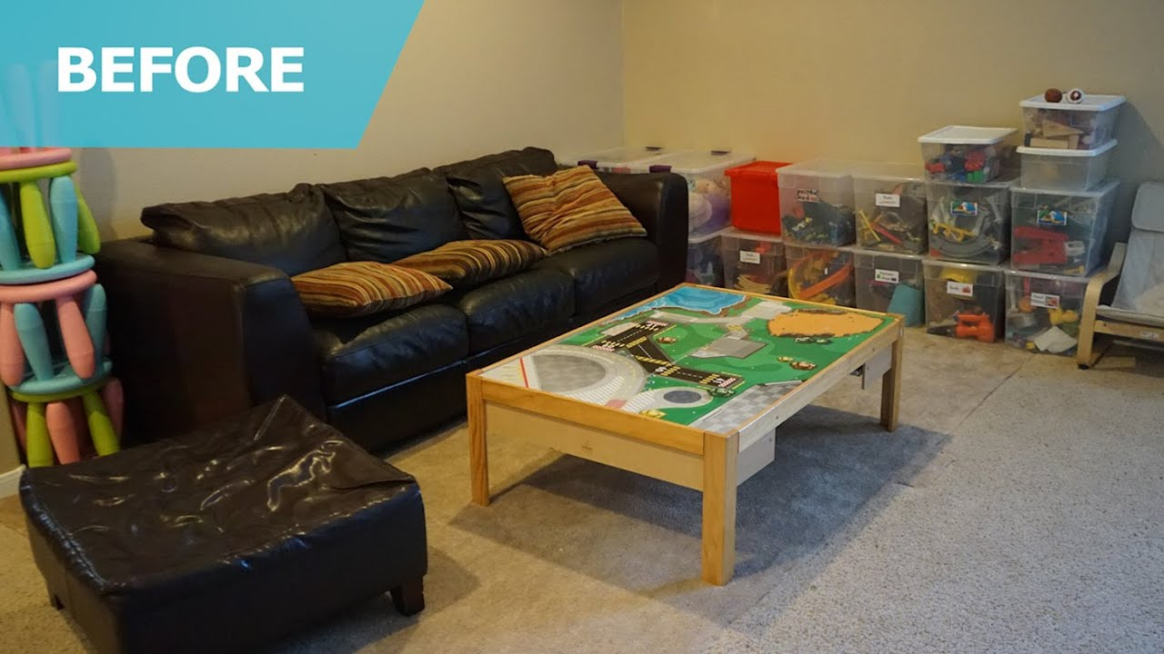 ikea usa living room ethan allen furniture chairs playroom makeover ideas – home tour (episode 204 ...