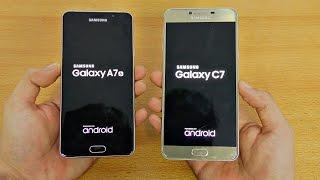 Samsung Galaxy C7 vs Galaxy A7 (2016) - Speed Test! (4K)