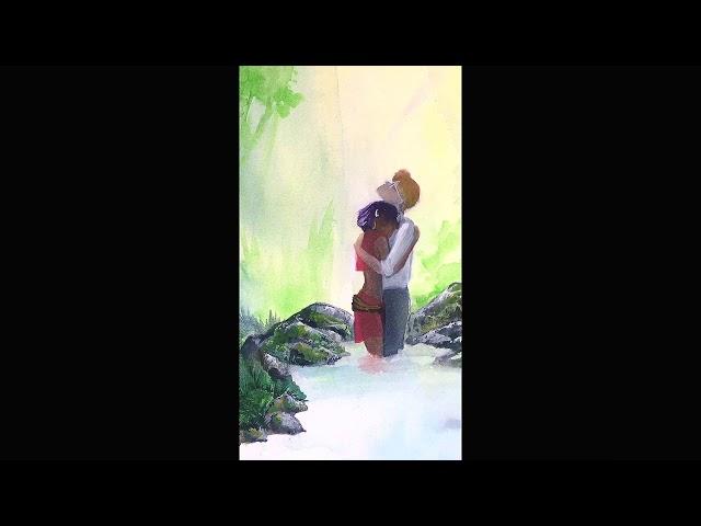 Watercolor Timelapse Fushigi no umi no Nadia