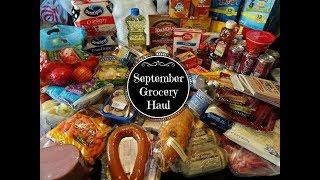 September Safeway Grocery Haul & Meal Plan