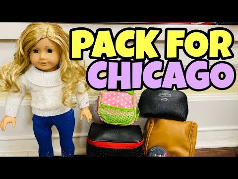 Packing American Girl Doll For Chicago Trip