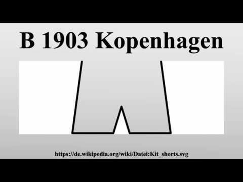 B 1903 Kopenhagen