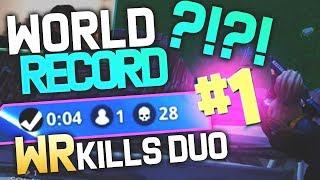 RECORD DU MONDE DE KILLS SOLO VS DUO ?!! KINSTAAR FORTNITE BATTLE ROYALE (World Record)