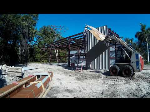 30 x 60 Steel Building Erection Time-lapse