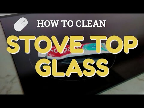 How to clean electric stove top glass stains using Colgate