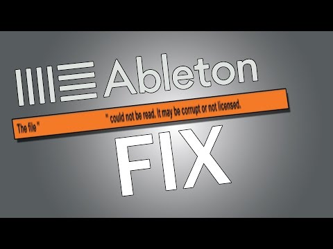 """Ableton Live Mp3s import issue fix (could not read it may be corrupt or licensed.) """"Not quick time"""""""