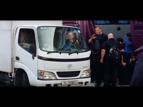 WWE Superstars Arrival in Singapore Indoor Stadium 2015