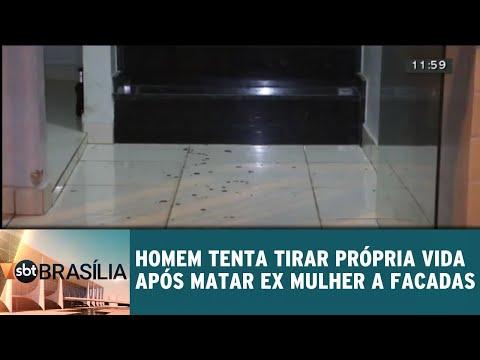 Homem tenta tirar a própria vida após matar ex mulher a facadas | SBT Brasília 08/06/2018