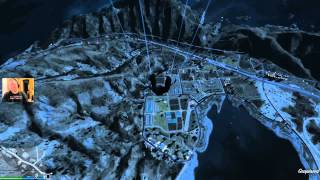 GTA 5: Free Falling from the top of the map.