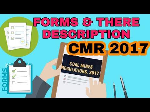 Forms Coal Mines Regulations 2017 | Khanan