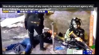 Hong Kong Riot Police Vioently Beat Protester