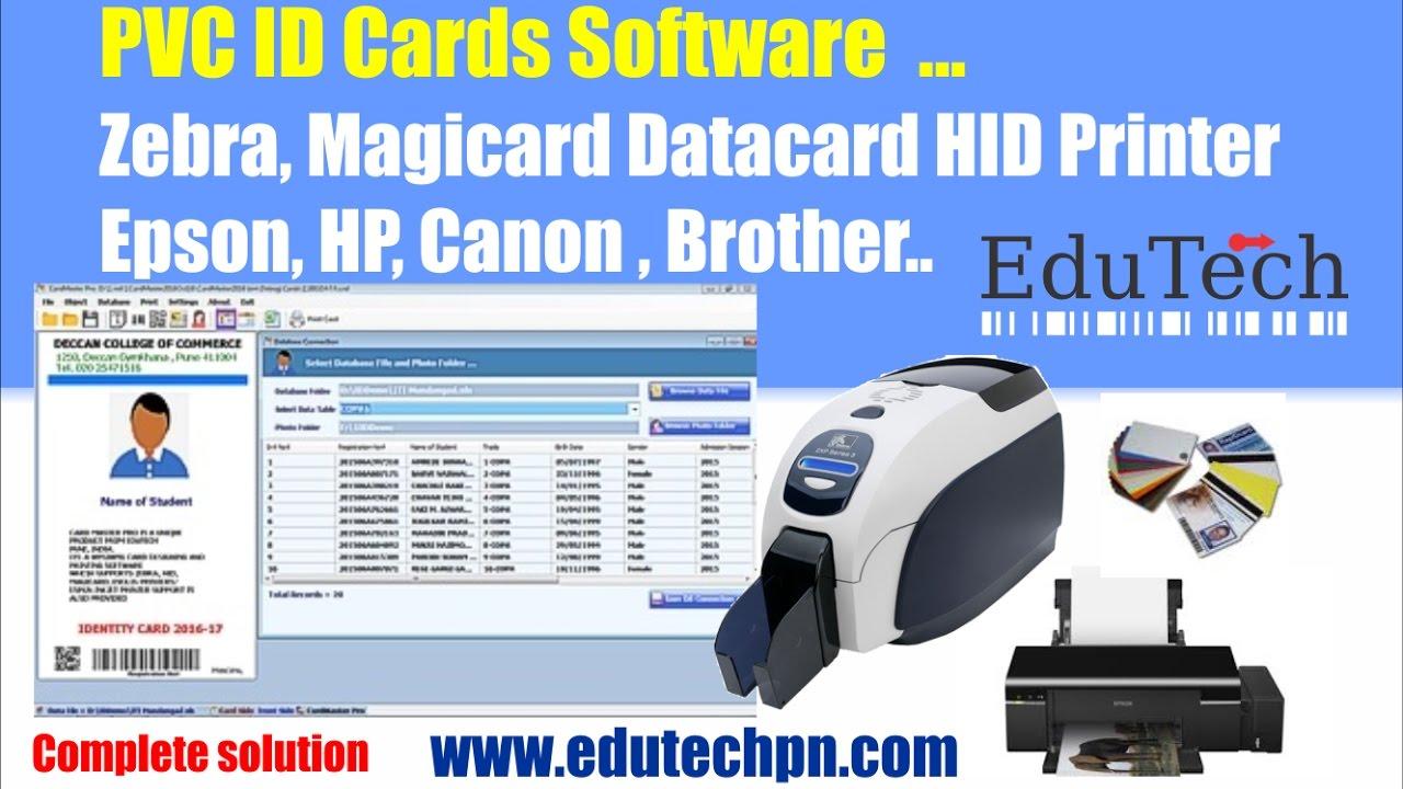Zebra Zxp32 Epson Id Card Software Pvc Id Card Printer Zxp32 Youtube