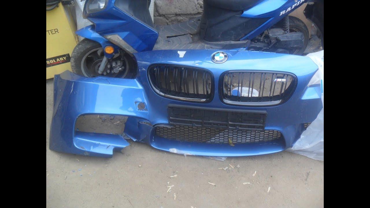 Ремонт бампера BMW M5. Сварка пластика.