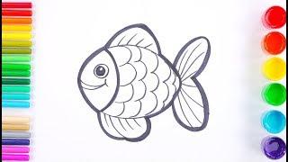 Glitter Fish for Kids, Toddlers   Rainbow Art ☆
