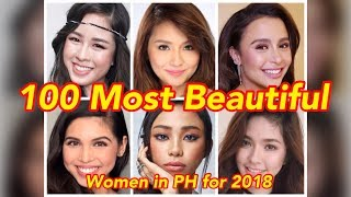 Philippines' Most Beautiful Women of 2018
