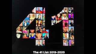 The 41 List 2019-2020 Honorees Are......Full List w/Video vignettes