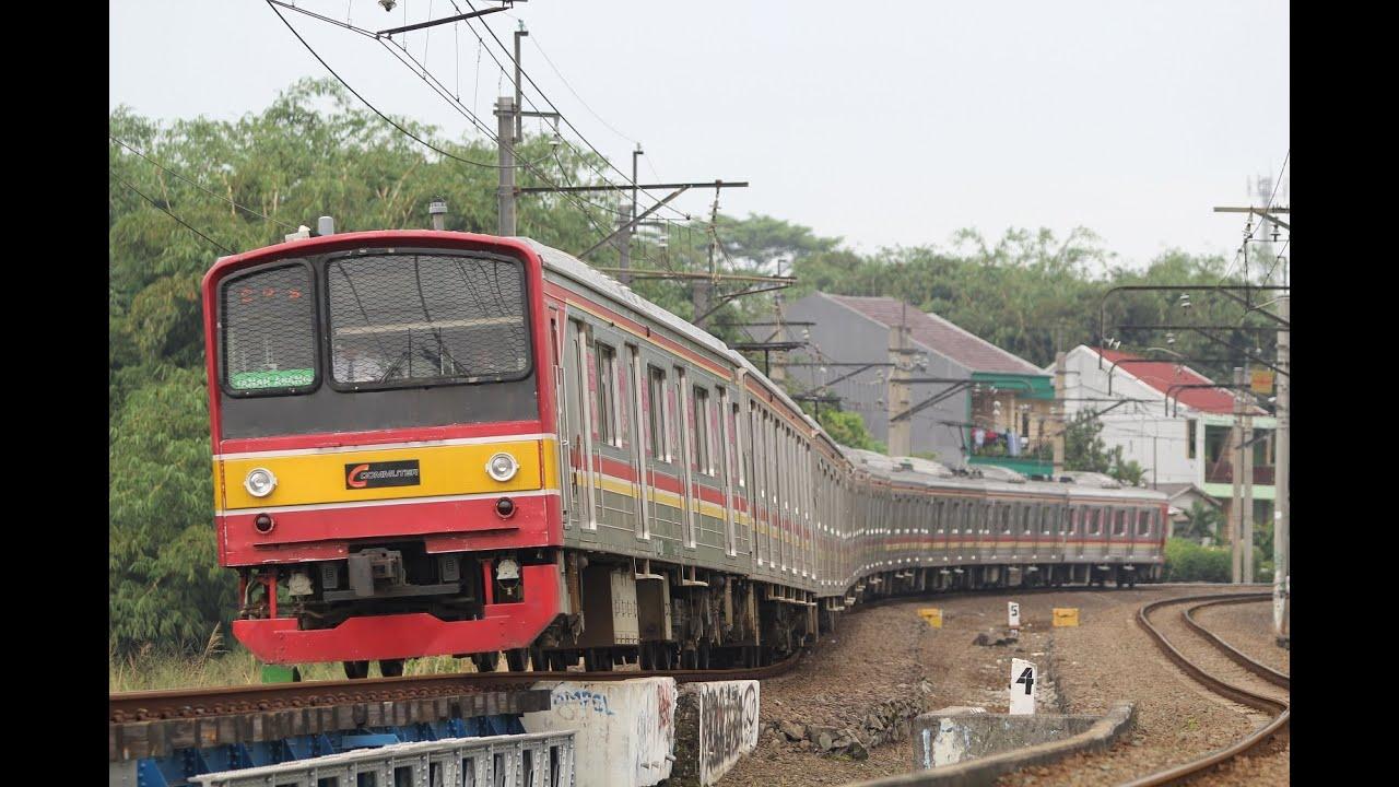 ジャカルタの205系 セルポン線走行シーン №1 Jalur serpong:Rawabuntu - Serpong
