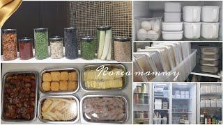 냉장고 냉동실 정리 수납 | 식재료 용기 및 보관법 |…