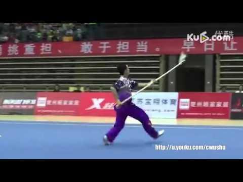 2015.09/全中国武术套路冠军赛:男子枪术:张耀文(浙江)第一名