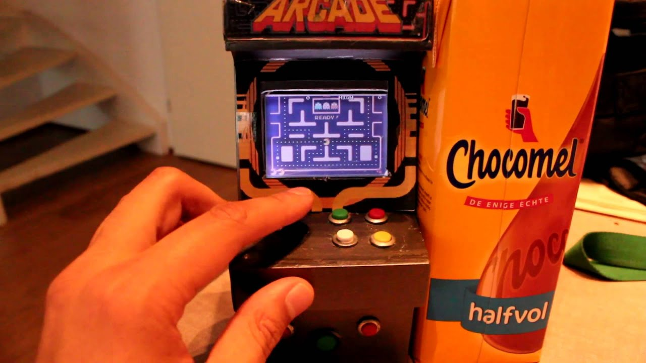 Prototype Mini arcade cabinet Gameboy Adv - Ms Pacman ...