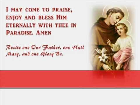 Prayer to st anthony de padua