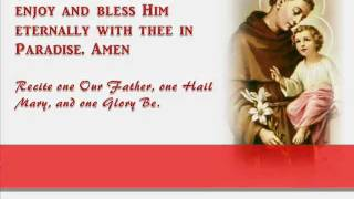 Novena Prayer to Saint Anthony of Padua