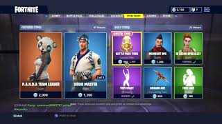 *NEW* SKINS! DAILY ITEM SHOP TODAY! | NEW PANDA SKIN! | FORTNITE BATTLE ROYALE (19/8/2018)