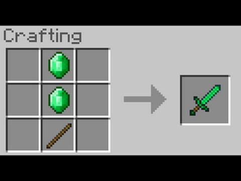 How to craft a diamond sword in minecraft ps4