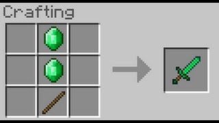 How to Make an Emerald Sword w/ out Mods! [100% REAL!]