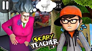 É DOR DE BARRIGA? GAMEPLAY SCARY TEACHER PETER GAMES PETER TOYS