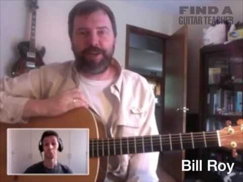 Singer Songwriter Guitar Lessons with Bill Roy, Central Mass