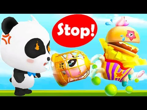 Baby Panda's Puzzle Town - Fun Help Kiki To Fight Back & Save The Town - Educational Kids Game