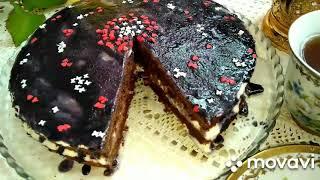 "Торт"" Южная ночь"". south night cake. janubiy tunda tort #выпечка #торт #вкусняшки #yummy #cake"